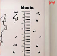 iShow New arrival music piano child height ruler child real wall stickers height wall stickers