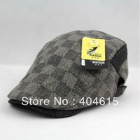 Wholesale women and men winter popular fashion adjustable plaid ivy hats