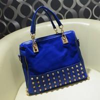 xams gift bag Women's handbag fashion scrub 2014 rivet  portable multi-purpose messenger  big