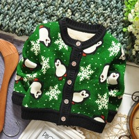 6 pcs/lot Factory Sale Children Kids Sweater Cardigans Girls Boys Cartoon  Winter Autumn Wear Knitted Jacket NEW FF729