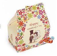 Free Shipping Wholesale New 50pcs European style White & Red  Wedding Favor Boxes Gift Box Candy Boxes Wedding Supplies