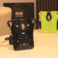 xams gift PUNK bag 2014 summer candy color women's handbag chain  mini  women's rivet messenger  skull neon