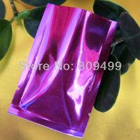 "500pcs 9x13cm=3.5x5""Wholesale purple  Open-top laminated material Bag for food/Accessories/Promotional Free Ship D109d-500"
