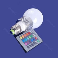 Clearance sale!3W E27 Remote Control 16 Color RGB LED Light Ball Bulb 85V 265V