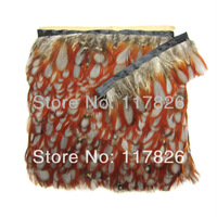 Free Shipping 1Yard/lot Beautiful 2-3inches/5-8cm Natural White Pheasant Feathers Ribbon JY18
