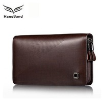 Luxury Brand High Quality Cowhide Genuine Leather Men Wallets Clutch , Double Zipper Bag As Gift For Man , Free Shipping  MHB002