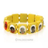 New Unisex 6pcs Multi Color Wooden Bracelet Bangle Wristband Stretch European 261832-261837