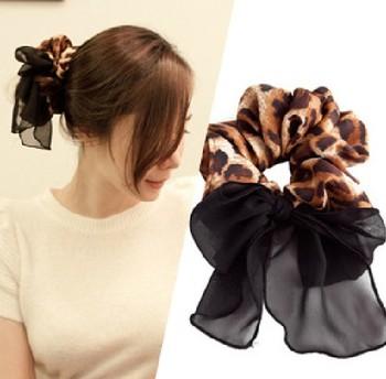 The appendtiff vintage leopard print chiffon leopard print headband the first ring