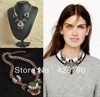 high quality 2013 design fashion brand vintage retro statement choker necklace for women