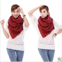 Korean yeh knitted yarn ultra long scarf lovers thickening muffler scarf