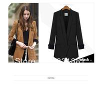 2 colors hot cheap women's 2013 lining stripe suit jacket suit slim ladies suit jacket Free Shipping