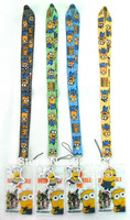 NEW 100 Pcs the Despicable me 2 Neck mobile Phone lanyard Keychain straps