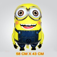 50 PCS cartoon Despicable Me Helium balloons kids birthday party decorations Inflatable toys gifts for children games
