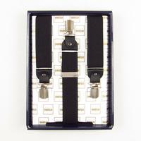 Ifsong wide black male formal commercial suspenders shoulder strap 075