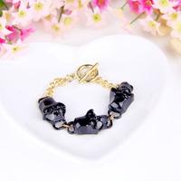 Wholesale Harajuku Japan and South Korea Jewelry Punk Skull Personalized Bracelet B280