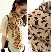 2013 NEW HOT Fashion trendy Cozy women ladies Noble women's scarf shawl neckerchief muffle designs Sexy cat W4191