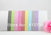 100pcs 9Colors FOE Chevron Printed Fold Over Elastic Hair Ties bracelet wristbands ponytail holder Hair Accessory Wholesale