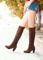 2013 boots female high-heeled shoes platform thick heel fashion high-leg boots