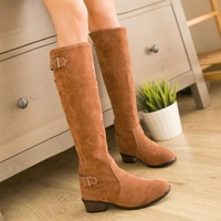 Personalized british style casual buckle martin boots boots high-leg