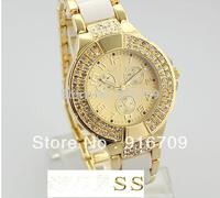 Promotion Luxury Fashion Steel Dual Stone Brand watch For woman stainless steel Quartz wrist watches+logo