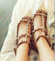 2013 Warren valentin o shoes sheepskin pointed toe sweet flat wedding shoes