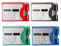 10pcs/lot mini solar calculator with pen card holder,8 numbers 0.060g/pcs7colors,easy convenient to operate/carry