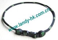 Single Rope Titanium Germanium Ionic Sports Necklace,  100pcs/lot, Free Shipping