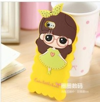 free shpping 10pcs/lot Hot Wholesale New soft silicone phone cover girl is little hope for iphone 5 5s case+Retail box