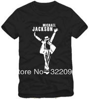 Free Shipping Size 90/100/110/120/130/140/150cm kids tshirt MICHAEL JACKSON T SHIRT mj pull hands dance tops 100% cotton 3 color