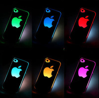 NEW Sense Flash light Case Cover for Apple for iPhone 4 4S 4G LED LCD Color Changed