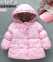 Female baby with thick cotton-padded clothes small cotton-padded jacket infant children cardigan jacket with warm winter coat