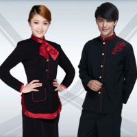 Ct627 work wear autumn and winter work wear autumn long-sleeve female waiter clothes