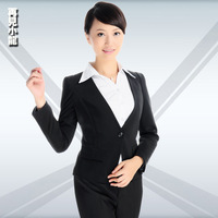 Xf571 autumn ol work wear women's set fashion formal female slim work wear