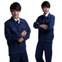 G544 work wear set male protective clothing spring and autumn long-sleeve workwear