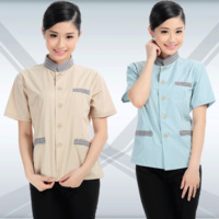 Bj004 work wear female short-sleeve clothes cleaning services work clothes
