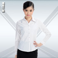 Autumn long-sleeve work wear work wear white shirt women's chiffon shirt white shirt top