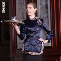 Ct520 work wear autumn and winter female long-sleeve uniform waiter clothes autumn