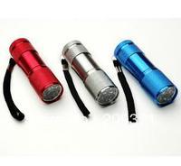 free shipping 3 X Super Bright 9 LED Mini Flashlight Torch Waterproof