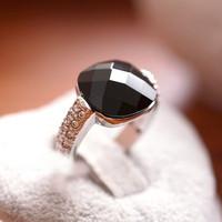 Personalized women retro shiny rhinestones crystal finger ring fashion Q221