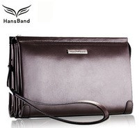 Brand Cowhide Clutch Genuine Leather Men Wallet With Leather Strap , Long Design High Quality Handbag for Man, MHB004