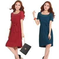 2014 Plus size fashion women's clothing summer elegant lace plus size one-piece dress summer sweet