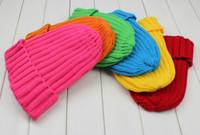 strip Solid Color cap  Warm Plain Acrylic Knit Ski Beanie Skull Hat many colors