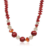 Cabinet crystal necklace shell bead quality red fashion ol girlfriend gifts gift