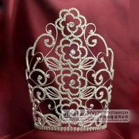 Wah Mei Jewelry  rhinestone tall crown tiara pageant and bridal wedding tiaras wmc1998