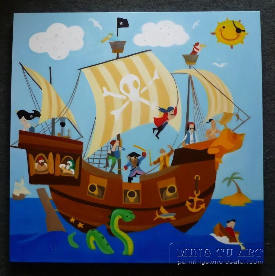 pirate ship art for kids