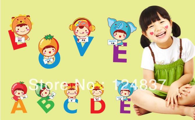 45-60cm-Alphabet-Wall-Sticker-Nursery-stickers-kids-room-wall-art ...