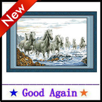 Cross Stitch 2013 new 100% accurate printing Full steam ahead Europe and home decoration Cotton Manual 80X57cm Free Delivery