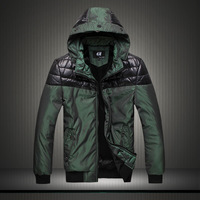 2013 gradient color men's clothing fashion thermal wadded jacket m502 p90