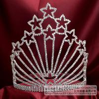 Wah Mei Jewelry  rhinestone tall crown tiara pageant crown  bridal wedding tiaras wmc1539