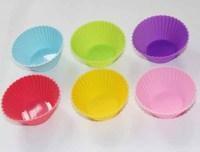 Free Shipping 30pcs DIY Wholesale 7cm Silicone Cake Mold/Cupcake Mold /Baking Mould Bakeware 6Colors